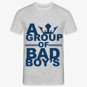 Bad boys blauw2 1 - Mannen T-shirt