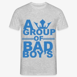 Bad boys blauw1 1 - Mannen T-shirt