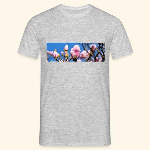 1040659 magnolia hintergrund - Männer T-Shirt