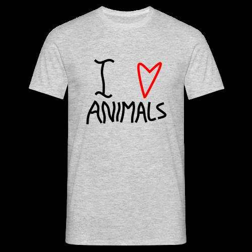 I Love Animals - Herre-T-shirt