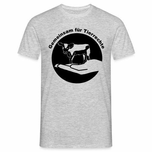 Gemeinsam fuer Tierrechte Logo - Männer T-Shirt