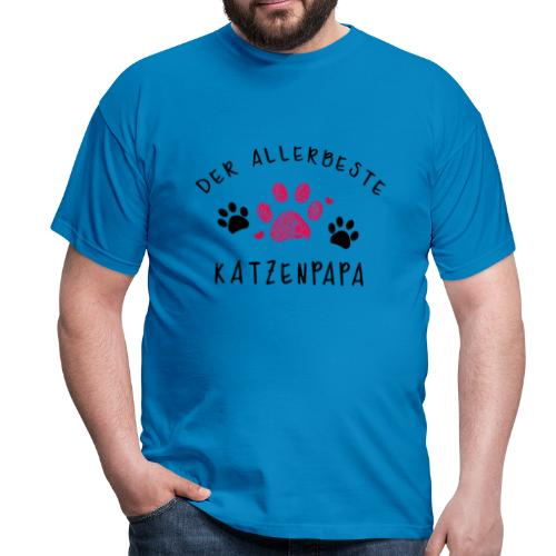 Der allerbeste Katzenpapa - Männer T-Shirt
