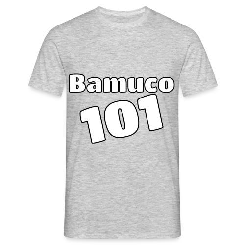 Bamuco101 Big White Logo - Miesten t-paita