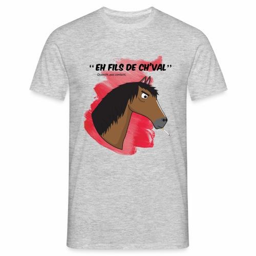 EH FILS DE CH'VAL Rouge - T-shirt Homme