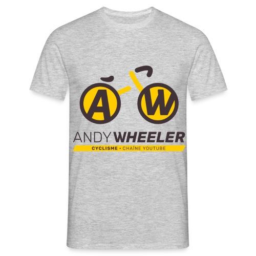 AW CYCLISME logo 2 - T-shirt Homme