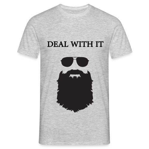 #BEARD *DEAL DEAL WITH IT - Männer T-Shirt
