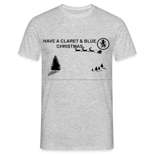 Claret and Blue Xmas - Men's T-Shirt