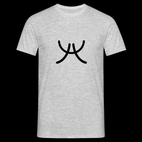 AW1 Design zwart - Mannen T-shirt