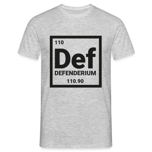 DEFENDERIUM BLACK - Mannen T-shirt