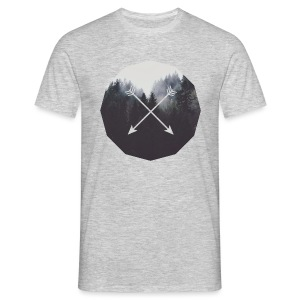 Misty Forest Blended With Crossed Arrows - Maglietta da uomo