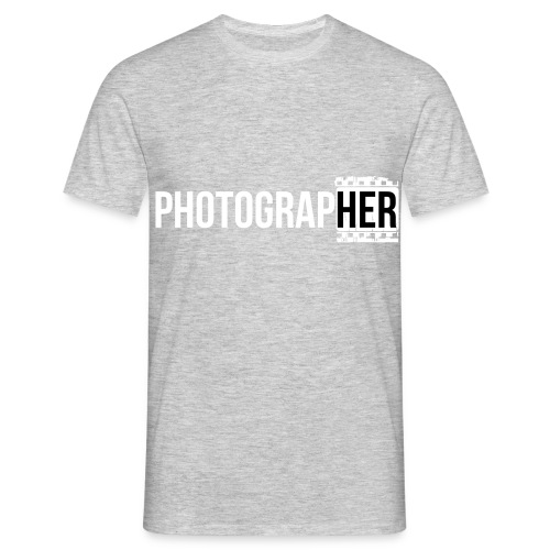 Photographing-her - Men's T-Shirt