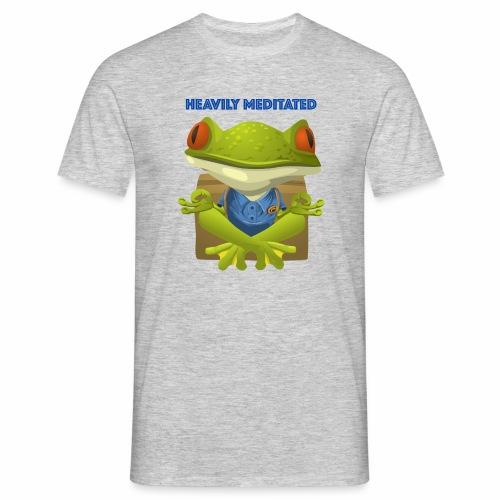 Heavily meditated - frog - Männer T-Shirt