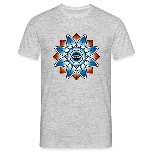 Psychedelisches Mandala mit Auge - Männer T-Shirt