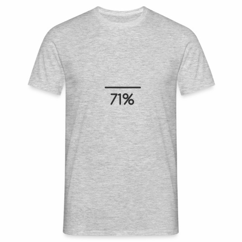 71 PERCENT logo - Men's T-Shirt