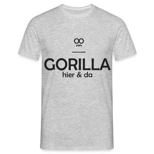 Gorilla hier & da Logo - Männer T-Shirt