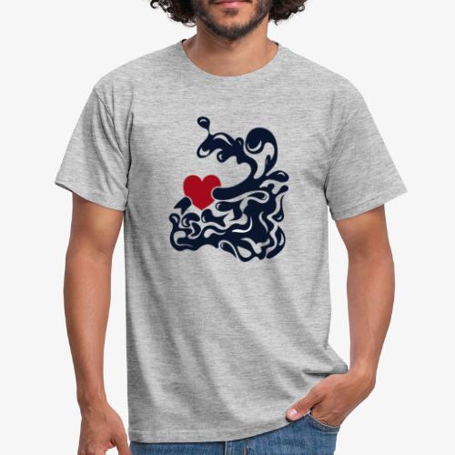 corazon splash - Camiseta hombre