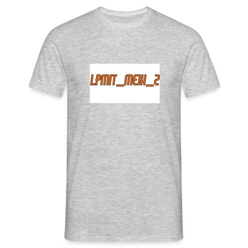 LPMIT_Meik_2 Schriftzug Orange - Männer T-Shirt