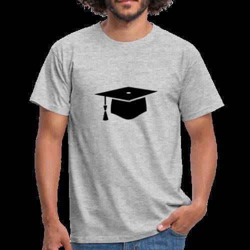 einfacher Doktorhut - Geschenk zur Doktorarbeit - Männer T-Shirt