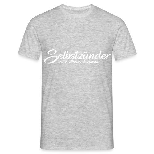 Selbstzünder Weiß seit2017 - Männer T-Shirt