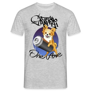 Chihuahua Graffiti one love - Männer T-Shirt