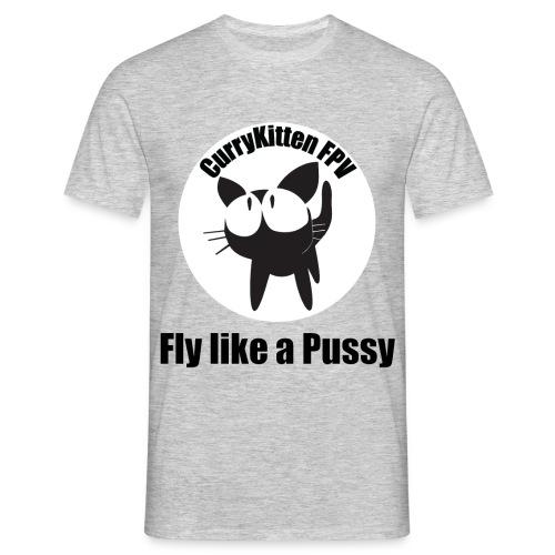 CurryKitten Logo - Fly like a Pussy - Men's T-Shirt