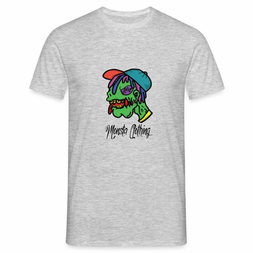 Monsta T-Shirt With Text - Men's T-Shirt