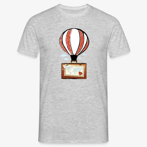 CUORE VIAGGIATORE Gadget per chi ama viaggiare - Maglietta da uomo