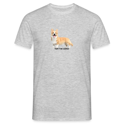 Topi the Corgi - Black text - Men's T-Shirt