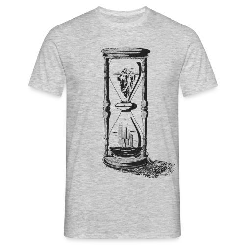 Sanduhr – Klimawandel - Männer T-Shirt