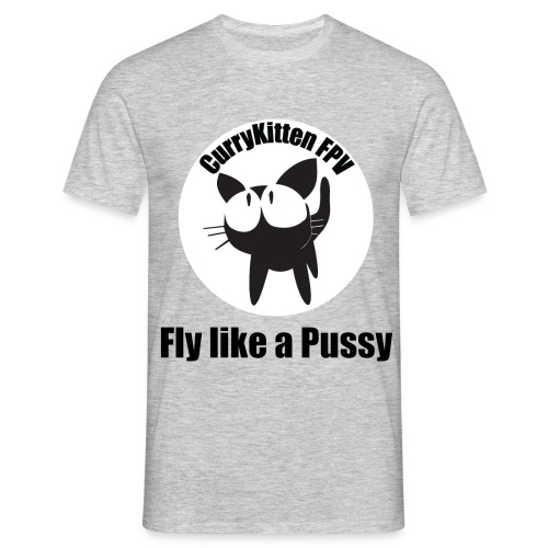 CurryKitten Logo - Fly like a Pussy - Men's T-Shirt