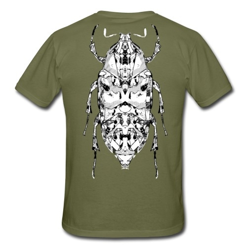 Insect on the back zwart wit - Mannen T-shirt