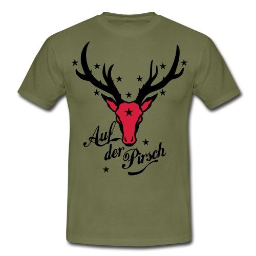 Hirsch auf der Pirsch - Männer T-Shirt