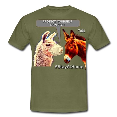 Protect Yourself Donkey - Coronavirus - Men's T-Shirt