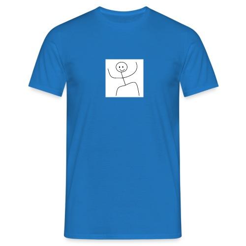 lady t-shirt stick man - Herre-T-shirt
