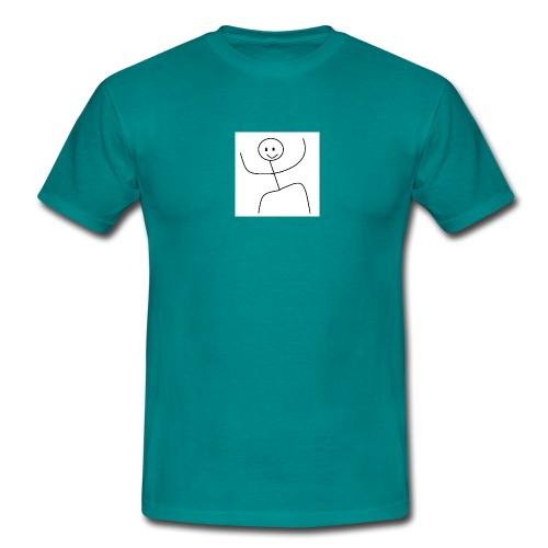lady t-shirt stick man - Herre-T-shirt