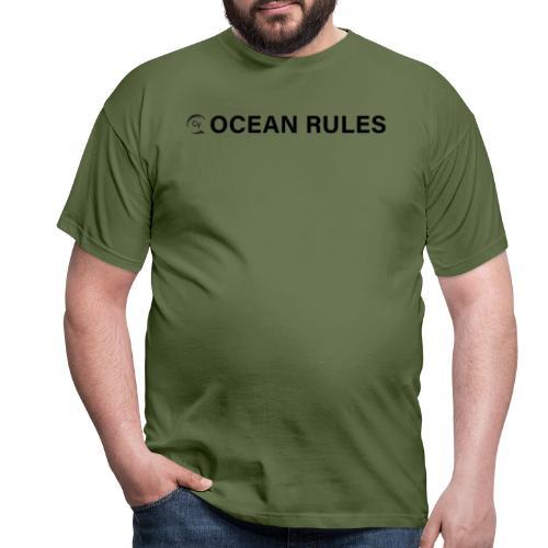 oceanrules black - Männer T-Shirt