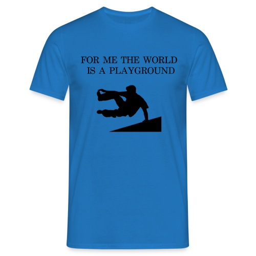 THE WORLD IS A PLAYGROUND - T-shirt herr