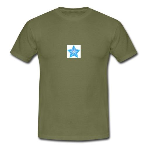 blue themed christmas star 0515 1012 0322 4634 SMU - Men's T-Shirt