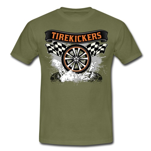 Tirekickers – Wheel ans Racing Flags - Männer T-Shirt