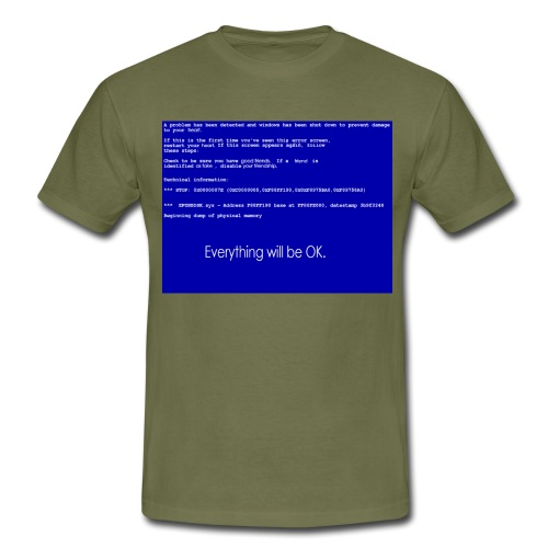 screen error - Männer T-Shirt