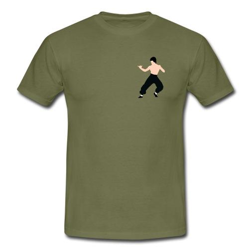 Bruce lee Kampf Pose - Männer T-Shirt