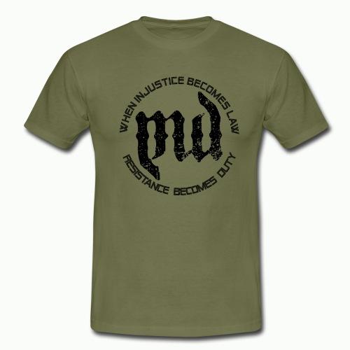 Mass Deception Resistance (black print) - Mannen T-shirt