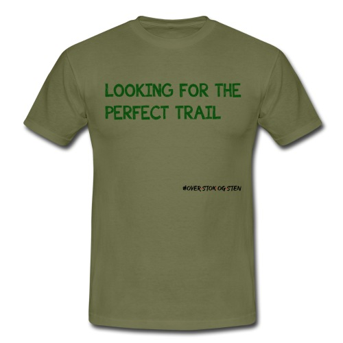 looking for the perfect trail - Herre-T-shirt