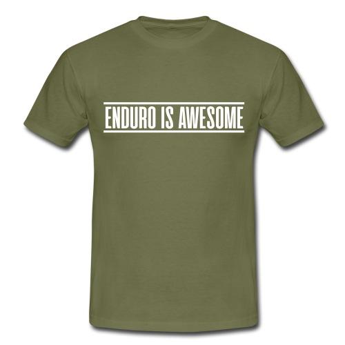 ENDURO IS AWESOME - T-skjorte for menn