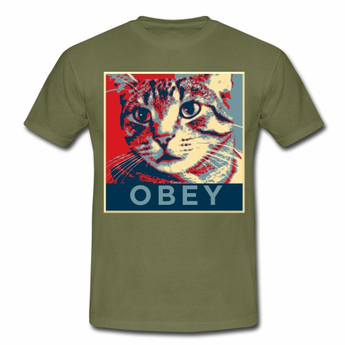 Obey the Cat! - Männer T-Shirt
