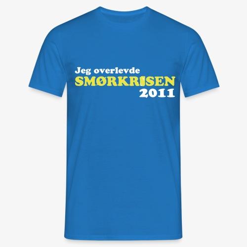 Smørkrise 2011 - Norsk - T-skjorte for menn