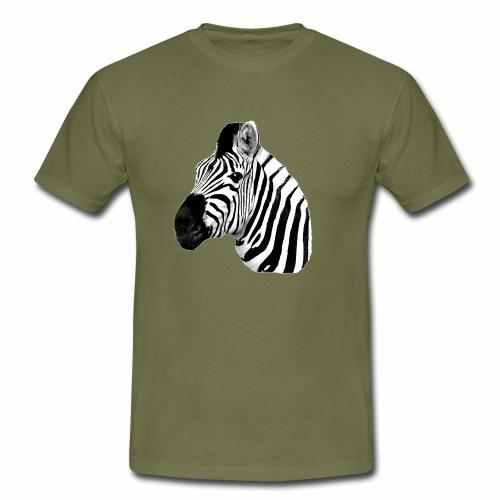 Cooles Zebra - Männer T-Shirt