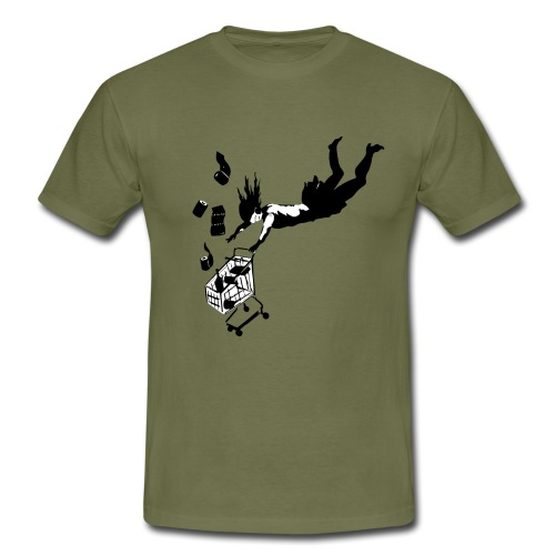 Covid-19 shopping cart (utan text) - T-shirt herr