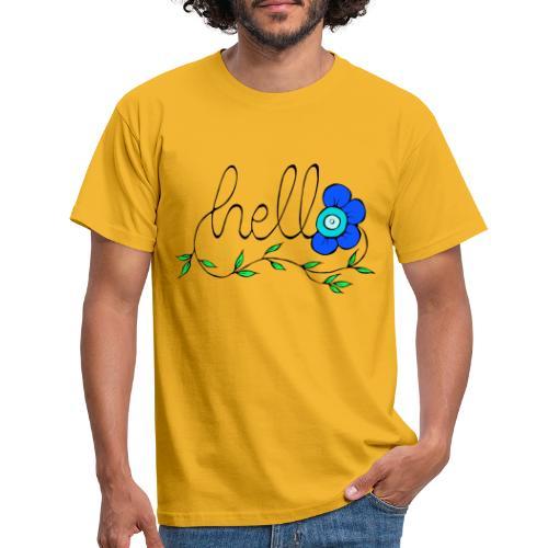 Hello Blume. - Männer T-Shirt