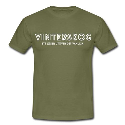 Vinterskog med vitt tryck - T-shirt herr